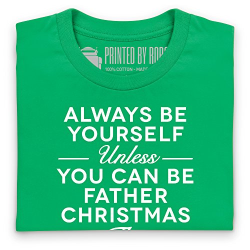 Always Be Father Christmas T-shirt, Uomo Verde smeraldo