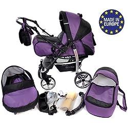 Baby Sportive - Sistema de viaje 3 en 1, silla de paseo, carrito con capazo y silla de coche