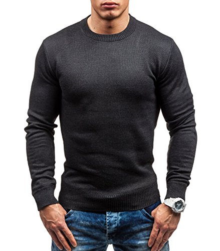BOLF – Tricot – Pull – S-WEST 6005 – Homme Anthracite