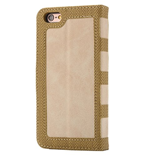Phone case & Hülle Für iPhone 6 Plus / 6s Plus, Business Notebook Style Hit Farbe Horizontale Flip Leder Tasche mit Halter & Card Slots & Wallet & Photo Frame ( Color : Grey ) Yellow