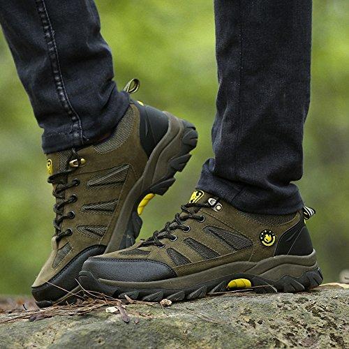 Ben Sports Scarpe da escursionismo Calzature da escursionismo Stivali da escursionismo da donna Uomo verde