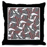 CafePress - Retro Boomerang Gray - Throw Pillow
