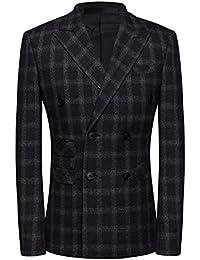 Haut de Costume Homme Mariage business Slim Fit deux-pièces boutons élégant  ... 3df5ed81e63