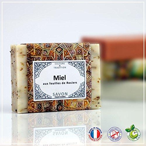 MIEL - Savon Miel et Feuilles de rosiers -100g - Fabrication Française