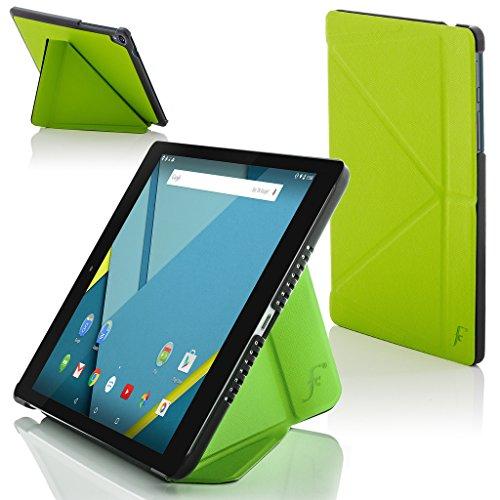 ogle Nexus 9 8.9 Zoll Origami Hülle Schutzhülle Tasche Bumper Folio Smart Case Cover Stand - Rundum-Geräteschutz und intelligente Auto Schlaf/Wach Funktion (GRÜN) ()