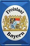 empireposter Fun - Freistaat Bayern - Blechschilder Nostalgie 20x30cm