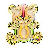 Hffan Magnetspiel Stadtlabyrinth, pädagogisches Holzspielzeug für Kinder ab 2 Jahren, schult die Logik und Feinmotorik , Magnetische Puzzle Labyrinth Nutztiere Anzahl Labyrinth für Kinder