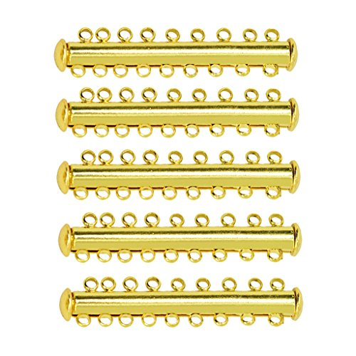 Homyl 5/10 Stück Multi Strand Karabiner Magnetverschluss Verschluß Kettenverschluss Magnet Verschluss Schmuckverschlüsse für Halskette Armband DIY Schmuck - 9 Strang 5 Stück (Strand-magnet)