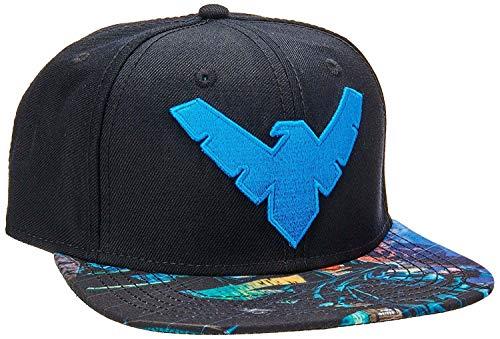 BIOWORLD DC Comics Batman Nightwing Logo Sublimated Bill Snapback Cap by bioWorld Dc Wool Cap