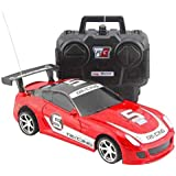 BonZeal Remote Control 1:24 Scale Model Full Function RC Racing Car Toy For Kids Children (Red)