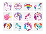 24 x Girls Unicorn Temporary Tattoos Children\'s Birthday Party Bag Filler