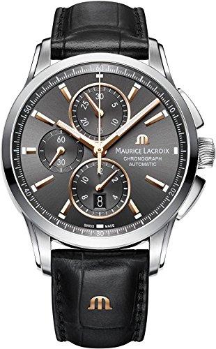 Maurice Lacroix Pontos PT6388-SS001-331-1 Herren Automatikchronograph Massives Gehäuse