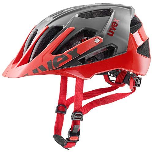 Uvex Unisex - Erwachsene Fahrradhelm, Rot (grey red), Gr. 56-61 cm