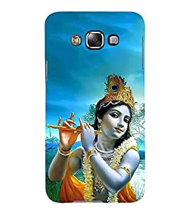 FUSON Kishna Playing Basuri 3D Hard Polycarbonate Designer Back Case Cover for Samsung Galaxy E5 (2015) :: Samsung Galaxy E5 Duos :: Samsung Galaxy E5 E500F E500H E500Hq E500M E500F/Ds E500H/Ds E500M/Ds