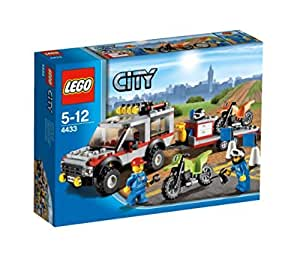 lego city 4433 jeu de construction le transporteur de motos tout terrain. Black Bedroom Furniture Sets. Home Design Ideas