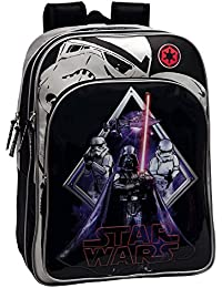 Star Wars Darth Vader Mochila Escolar Adaptable a Carro, Color Negro