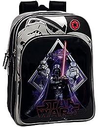 Star Wars 2192451 Darth Vader Mochila Escolar Adaptable a Carro, Color Negro
