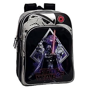 51qCdVbN97L. SS300  - Star Wars Darth Vader Mochila Preescolar, Color Negro