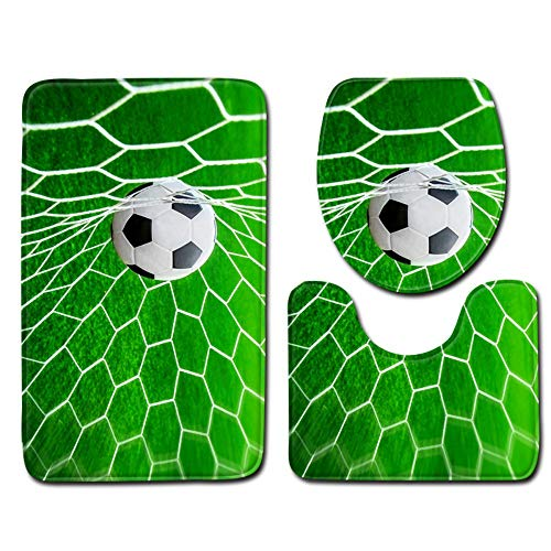 baijuxing Bad Weltmeisterschaft Fußball Wc Zubehör Wc Wc Warme Pad Badezimmer Dekoration Wc Sitzkissen 3 Stück Set, 45 cm * 75 cm -