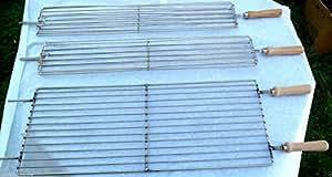 Zypern BBQ Barbecue Grill für Holzkohle foukou 86x 28cm Edelstahl Heben oder Senken von Level System & 2Fisch rottisserie Grill SST 67x 12cm Edelstahl, NEU