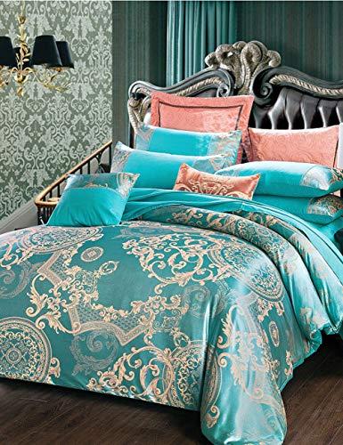 TUTOU Europäischen Stil heimtextilien bettdecke Bett einfache Baumwolle Jacquard bettwäsche königin vierteiliger Anzug (gelbe bettbezug),Ae07,78.7 * 90.5