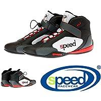 Speed Kartschuhe Model SR1 schwarz/rot/grau - Speed Racewear - Premium Kartschuh