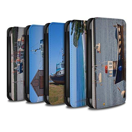 Stuff4 Coque/Etui/Housse Cuir PU Case/Cover pour Apple iPhone 7 / Bateau Bleu Design / Côte de la Colombie Collection Pack 16pcs