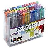 LolliZ Lot de 70 Stylos Billes à Encre Gel Multicolores