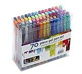 LolliZ Pack de 70 bolígrafos de gel, multicolores