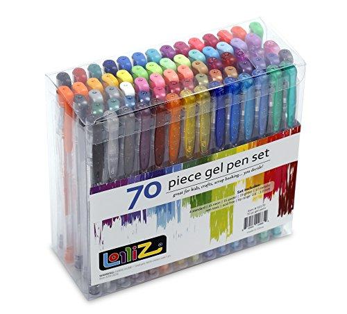 lolliz-lot-de-70-stylos-billes-a-encre-gel-multicolores