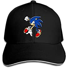 huseki hotgirl4Adult Cool Sonic The Hedgehog Adjustable Gorra de béisbol Ash Black