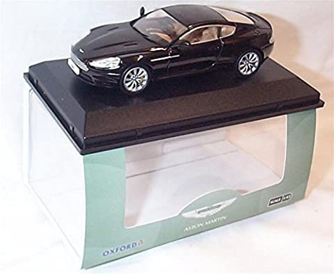 oxford Aston Martin DB9 Coupe Onyx Black car 1.43 scale