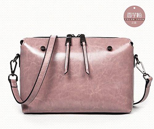Mefly Frühling und Sommer Retro Tasche Satchel Bag Damen einfache kleine Tasche Diagonal Pink