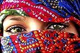 1art1 54794 Frauen - Arabische Augen Poster Kunstdruck 120 x 80 cm