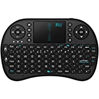 Rii i8 2.4GHz RF Mini Wireless Keyboard with Touch Pad Mouse Black UK Layout KODI XBMC Raspberry Pi Android Box HTPC IPTV Remote Control