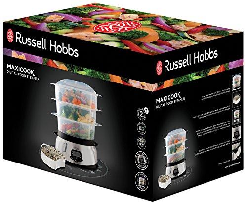 * Russell Hobbs Maxi Cook 23560-56 Vaporiera Digitale con 3 Vaschette, 1000 Watt, 10.5 Litri, Nero lista dei prezzi