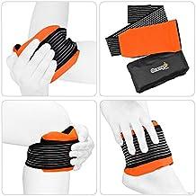 Paquete de Gel Premium (para Relajarse con alivio de dolor con Calor o Frío como Hielo) con Faja de Compresión Cómoda MR por Orange Physio