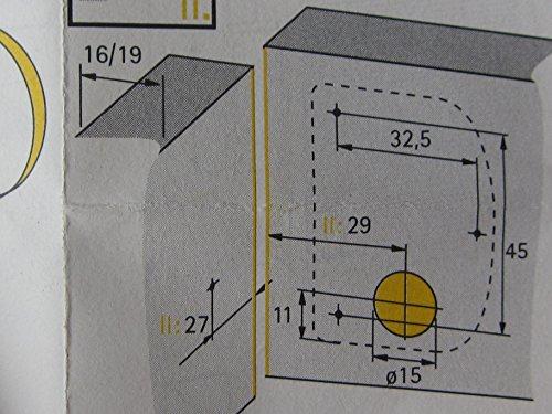 Hettich Aufschraubschloß gleichschließend, 20 mm, Metall / Kunststoff braun, 1 Stück, 1506
