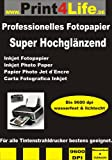 150 feuilles de papier SUPER photo brillant DIN A4 140g /m²; Impressions...