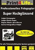 Print4Life P4L – 100 Blatt High Glossy BEIDSEITIGES Fotopapier DIN A4 297mm*210mm 140g/m²