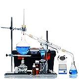 Agitatore Magnetico Da Laboratorio Completo Unità Di Distillazione Del Vetro Fornello Elettrico Raffinato Set Di Apparecchiature Chimiche Da Laboratorio Per Impianti Petroliferi (Colore : D)