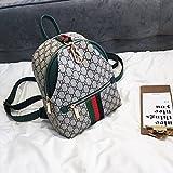 KLXEB Mädchen Paket Stempel Double Shoulder Bag Female Bag Tide Pool, Kleiner Rucksack Multifunktions Outdoor Reisetaschen Reißverschluss Dunklen Taschen, Tüten, Beutel, Grün