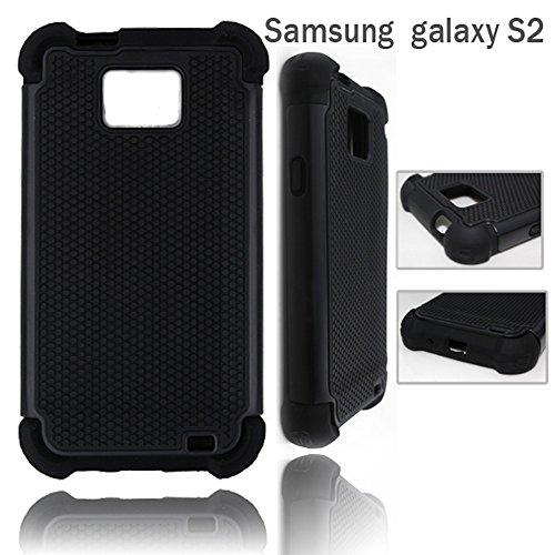 Bracevor Triple Layer Defender Back Case Cover for Samsung Galaxy S2 i9100 (Black)  available at amazon for Rs.299