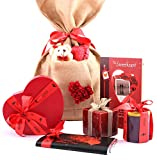Zoroy Luxury Chocolate Love Bag With Card, Chocolates, Bar, Teddy, Heart Chocolate, Candle