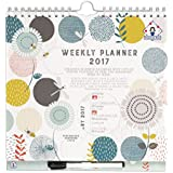 2016 2017 Organised Mum Weekly Planner Academic Calendar. Week-to-view organiser with large appointment spaces for people with busy lives. Starts with academic school year (runs mid-August '16 until December '17). Time-saving planner that comes with overlay, perforated shopping lists, stickers, large paperwork pocket and clip-on pen.
