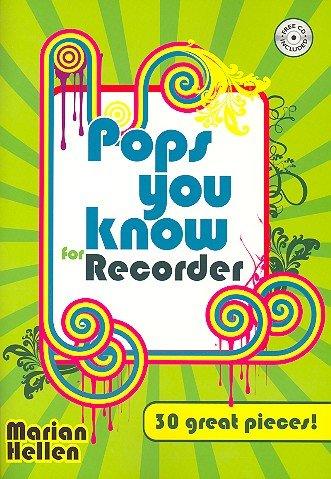 Pops you know for Recorder (+CD) mit Bleistift -- 30 beliebte Hits aus Pop und Rock bis zu Filmmelodien u.a. mit DANCING QUEEN (Abba) und STAR WARS, leicht bis mittelschwer arrangiert für Sopranblockflöte und Klavier (Noten/sheet music) (Happy Birthday Meine D)
