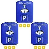 Com-Four Lot de 34en 1Disque de stationnement avec grattoir, lèvre en caoutchouc, Disque de stationnement, 819737Jeton de chariot
