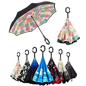 Paraguas Invertido, Paraguas Plegable, Reversible,