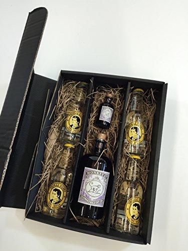 Monkey 47 Gin Tonic Set / Geschenkset - Monkey 47 Schwarzwald Dry Gin 500ml + 50ml(47{5821b2de60e8cc5de600c831d5dcdd8338d761c05b16a45e3fe0a91aab2c4c70} Vol) + 4x Thomas Henry Tonic Water 200ml