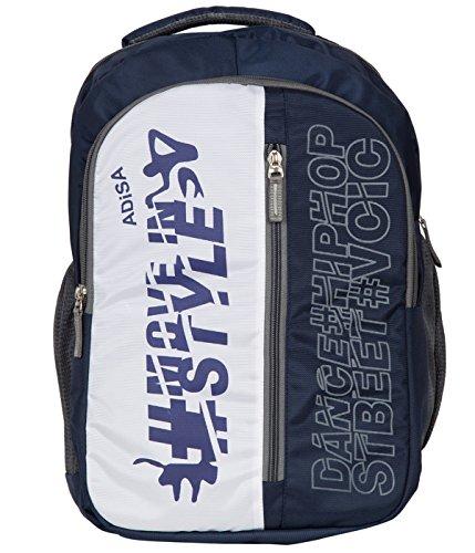 ADISA BP001 blue laptop backpack with rain/dust cover